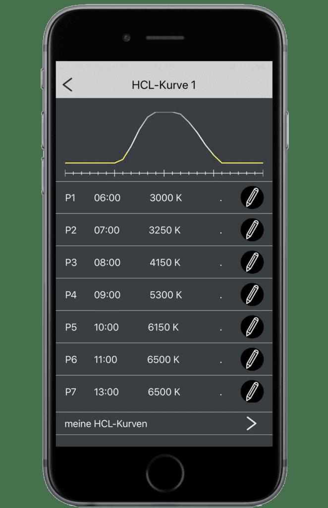 App HCL Kurve 662x1024 - Biologisch wirksames und circadianes Licht am Arbeitsplatz