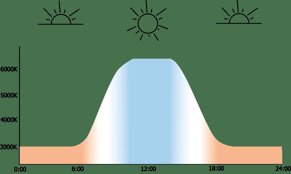circadiane Kurve 1024x614 - Biologisch wirksames und circadianes Licht am Arbeitsplatz