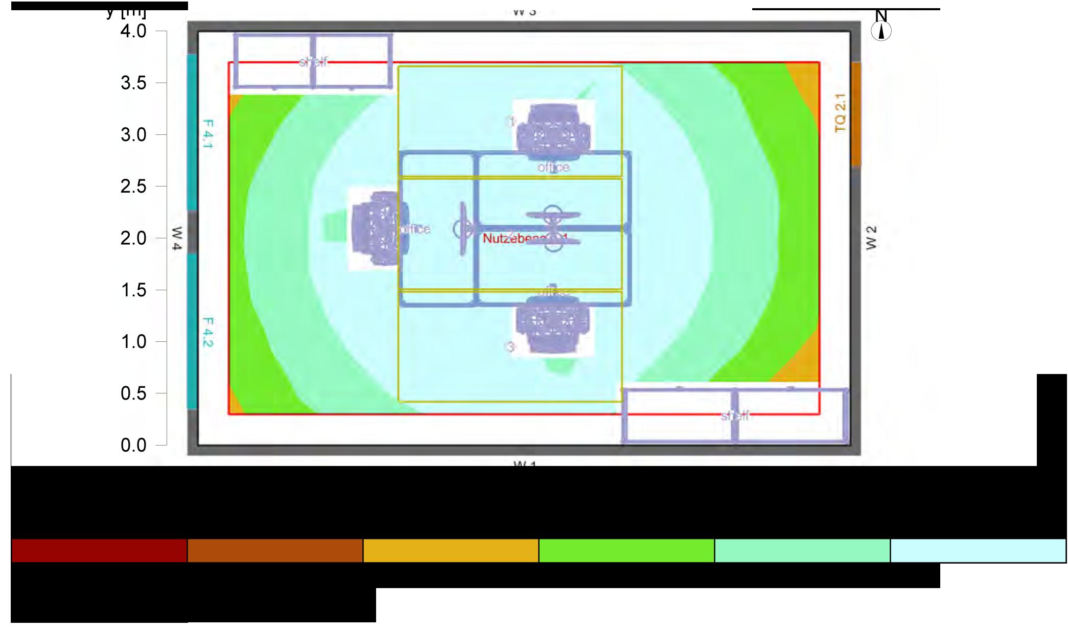 Relux Lichtverteilung 25m² - Klimaleuchte